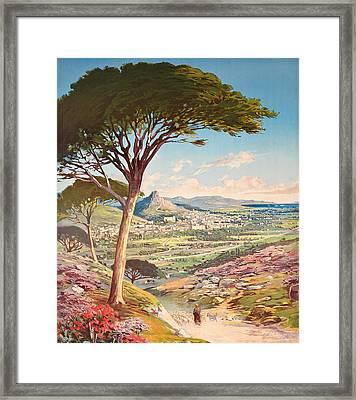 View Of Hyeres, France, 1900 Framed Print by Hugo dAlesi