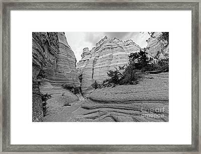 View Of Kasha Katuwe Tent Rocks Slot Canyon - Jemez Mountains New Mexico Framed Print