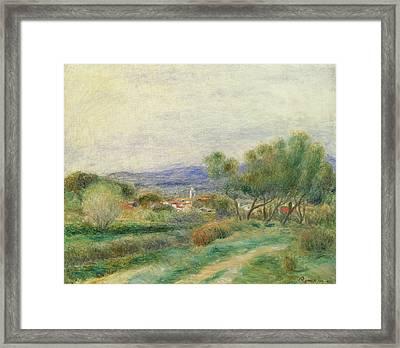 View Of La Seyne Framed Print by Pierre Auguste Renoir