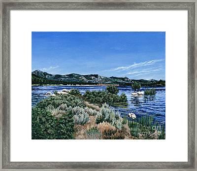 View Of Lake Hemet Framed Print