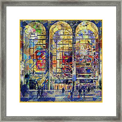 View Of Lincoln Center Framed Print by Guy Ciarcia