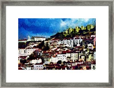 View Of Lisbon Framed Print by Dariusz Gudowicz
