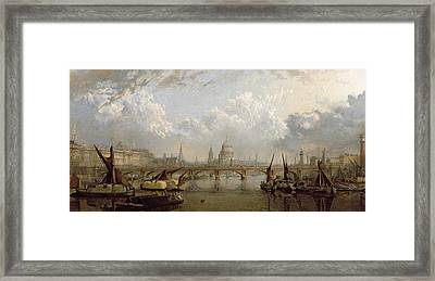 View Of London  Framed Print