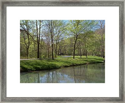 View Of Lone Pine Crossing Framed Print by Julie Grace