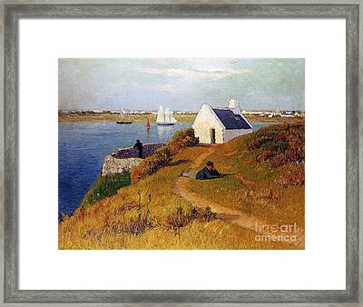 View Of Lorient In Brittany Framed Print by Henry Moret