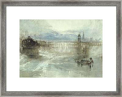 View Of Lucerne Framed Print by Joseph Mallord William Turner