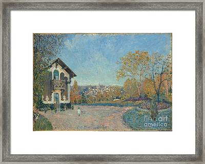View Of Marly-le-roi From Coeur-volant  Framed Print