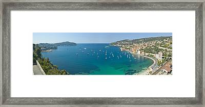 View Of Mediteranean Overlooking French Framed Print