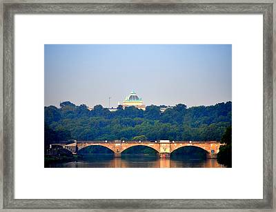 View Of Memorial Hall From The Schuylkill River Framed Print by Bill Cannon