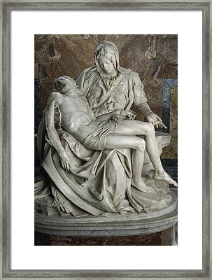 View Of Michelangelos Famous Sculpture Framed Print