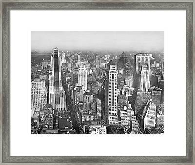 View Of Midtown Manhattan Framed Print
