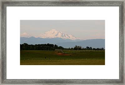 Framed Print featuring the photograph View Of Mt. Baker - 2 by Christy Pooschke