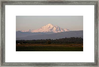Framed Print featuring the photograph View Of Mt. Baker - 3 by Christy Pooschke