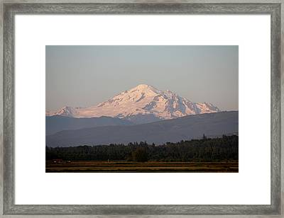Framed Print featuring the photograph View Of Mt. Baker - 4 by Christy Pooschke