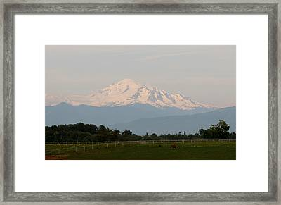 Framed Print featuring the photograph View Of Mt. Baker  by Christy Pooschke