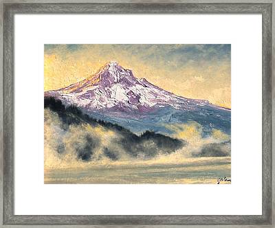 View Of Mt Hood Framed Print by Jim Gola