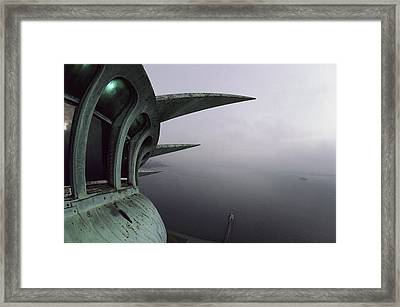 View Of New York Harbor From The Top Framed Print