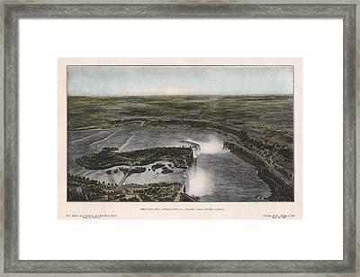 View Of Niagra Falls 1907 Framed Print by John Frank
