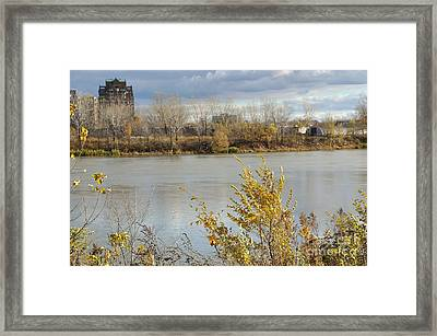 View Of Nun's Island From The River Framed Print by Reb Frost
