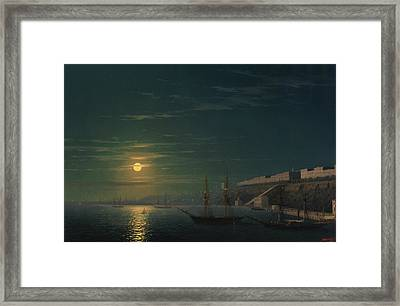 View Of Odessa On A Moonlit Night Framed Print