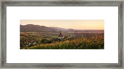 View Of Olbergkapelle Chapel Framed Print by Panoramic Images
