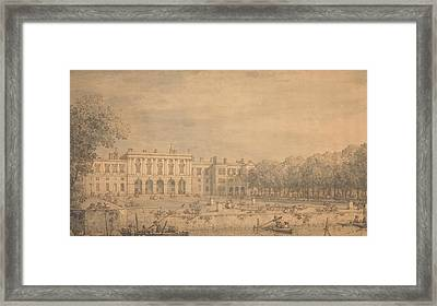 View Of Old Somerset House From The Thames Framed Print