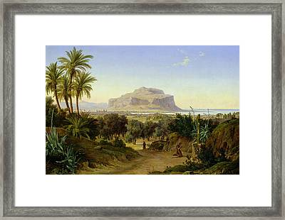 View Of Palermo With Mount Pellegrino Framed Print