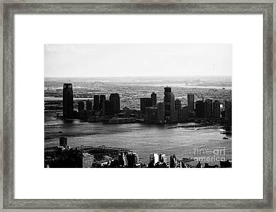 view of paulus hook and exchange place jersey city New jersey USA Framed Print by Joe Fox