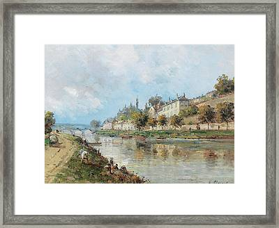 View Of Perigueux With The Isle River Framed Print by Gustave Mascart