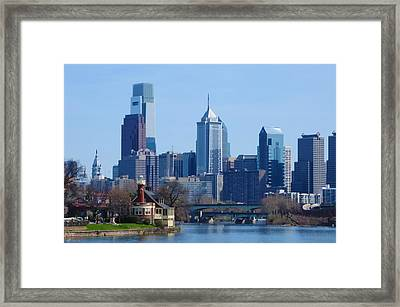 View Of Phliadelphia From West River Drive. Framed Print by Bill Cannon