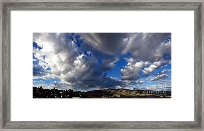 View Of Pocatello With Portneuf Medical Center Framed Print
