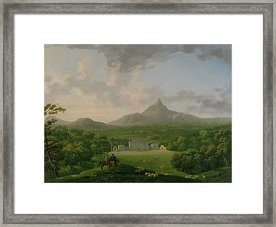 View Of Powerscourt - County Wicklow Framed Print by George the Elder Barret