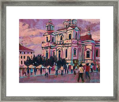 View Of Prague Framed Print by Brian Simons