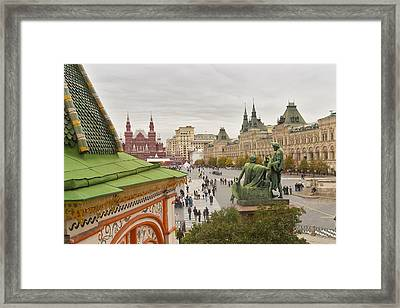 View Of Red Square In Moscow Framed Print by Aleksandr Volkov