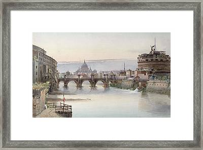 View Of Rome Framed Print by I Martin