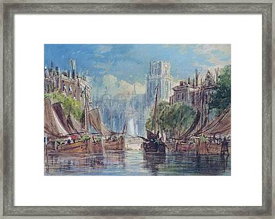 View Of Rotterdam Framed Print by George Chambers
