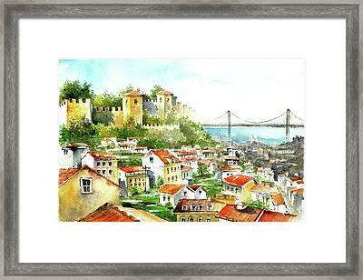 View Of Saint George Castle Lisbon Framed Print