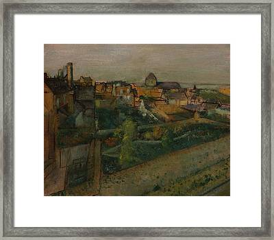 View Of Saint-valery-sur-somme Framed Print by Edgar Degas