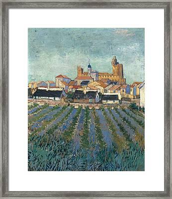 View Of Saintes-maries, 1888 Framed Print by Vincent Van Gogh