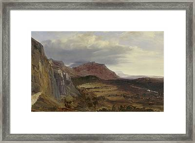 View Of Saleve, Near Geneva Framed Print by Theodore Rousseau