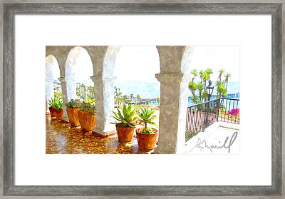 View Of San Clemente Pier Framed Print