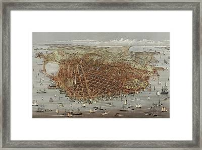 View Of San Francisco Framed Print by American School
