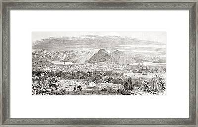 View Of San Francisco And Its Bay In Framed Print by Vintage Design Pics