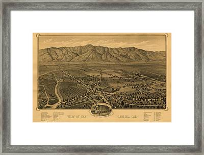 View Of San Gabriel, California Framed Print