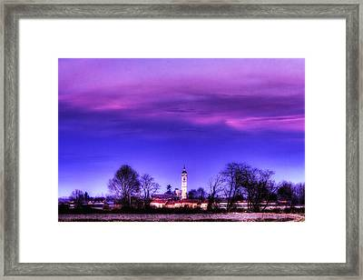 View Of San Giorgio Lomellina Framed Print