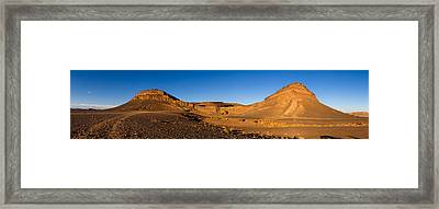 View Of Sand Dunes, Sahara Desert Framed Print