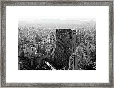 View Of Sao Paulo Framed Print