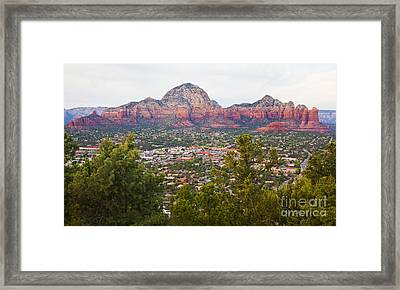Framed Print featuring the photograph View Of Sedona From The Airport Mesa by Chris Dutton