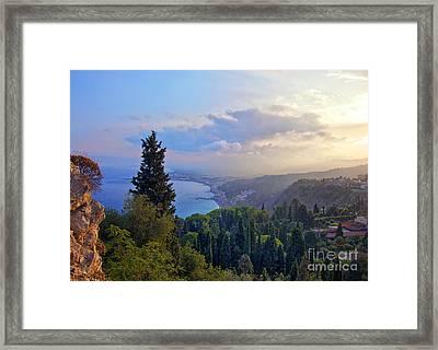 View Of Sicily Framed Print by Madeline Ellis