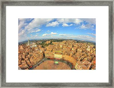 Framed Print featuring the photograph View Of Siena From Torre Del Mangia by Spencer Baugh